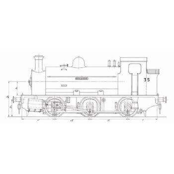 0-6-0 Saddle Tank Locomotive: Holmside (Plan)