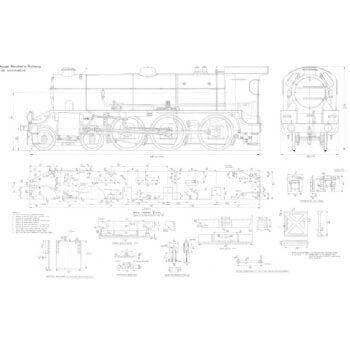 SR Class S15 Class 4-6-0 Locomotive: Greene King (Plan)