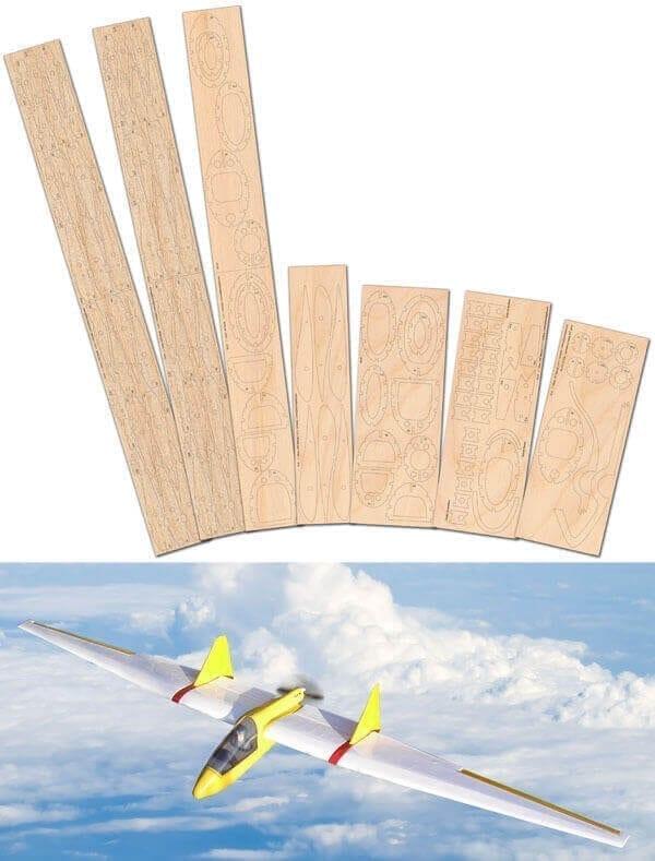 Mini Fauvel AV48 - Laser Cut Wood Pack