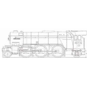 LNER V2 2-6-2 Locomotive: Green Arrow (Plan)