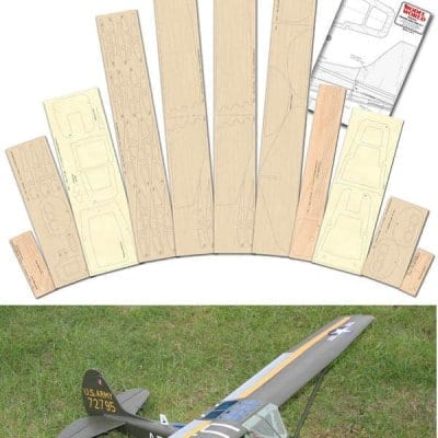 Cessna Bird Dog - Plan & Laser Cut Wood Pack Offer