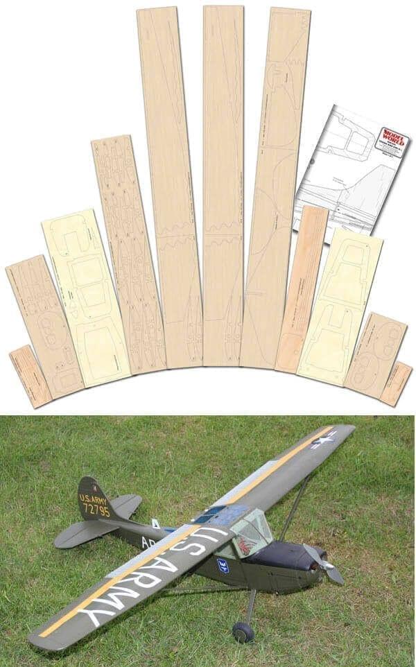 Cessna Bird Dog - Plan & Laser Cut Wood Pack Offer