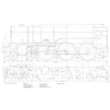 LMS 4-6-0 Compound Locomotive: Fury (Plan)
