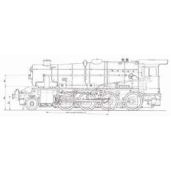 LMS Stainer 8F 2-8-0 Locomotive: Euston (Plan)