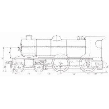 GNR V Class 4-4-0 Steam Locomotive: Eagle (Plan)