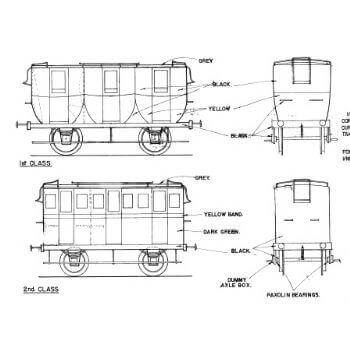 Coaches for the Crampton Locomotive (Plan)