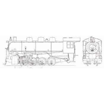 Canadian National 0-8-0 Switcher Locomotive (Plan)