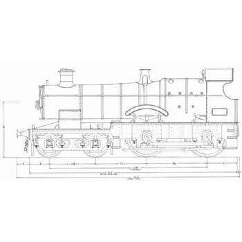 GWR 4-4-0 Locomotive: Bulldog & Dukedog (Plan)