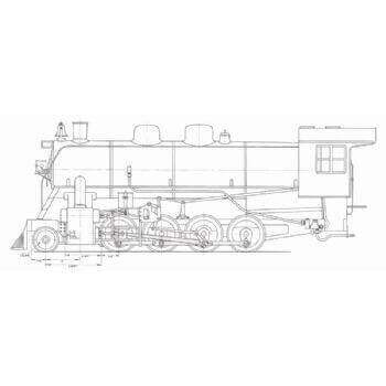Canadian Type 2-8-0 Locomotive & Tender (Plan)