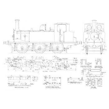 LBSCR Terrier 0-6-0 Tank Locomotive: Boxhill (Plan)