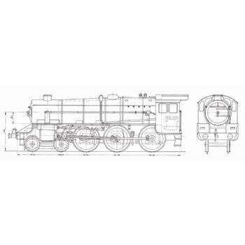 LMS Stainer Class 4-6-0 Locomotive: Black Five (Plan)