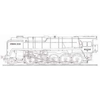 Standard Class 2-10-0 BR Locomotive: Evening Star (Plan)