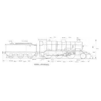 SR K Class 2-6-0 Locomotive: Kaye (Plan)
