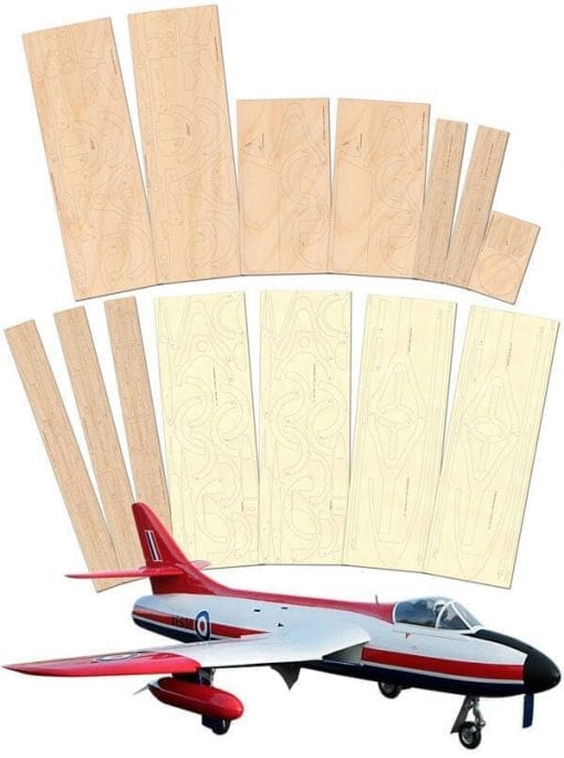 "Hawker Hunter (68"") - Laser Cut Wood Pack"
