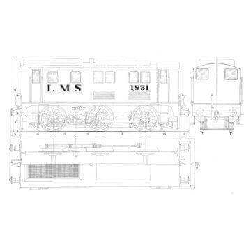 LMS Diesel Shunter 1831 (Plan)