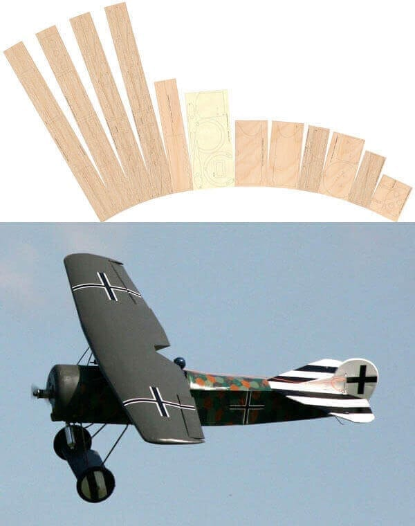 Fokker D.VIII - Laser Cut Wood Pack