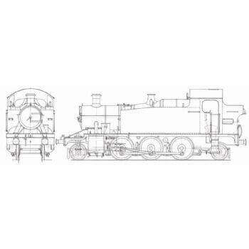 2-6-2 GWR Tank Locomotive: Firefly (Plan)