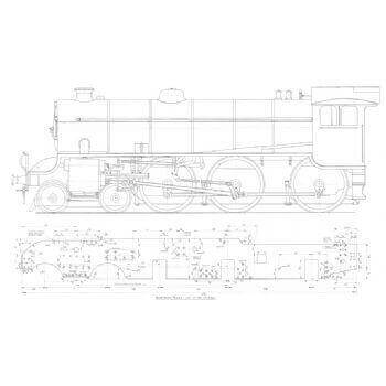 4-6-0 B1 LNER Locomotive: Springbok (Plan)