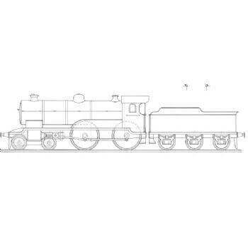 4-4-0 Tender Locomotive: Newbury (Plan)