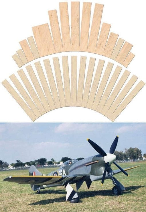 Hawker Tempest 5 - Laser Cut Wood Pack