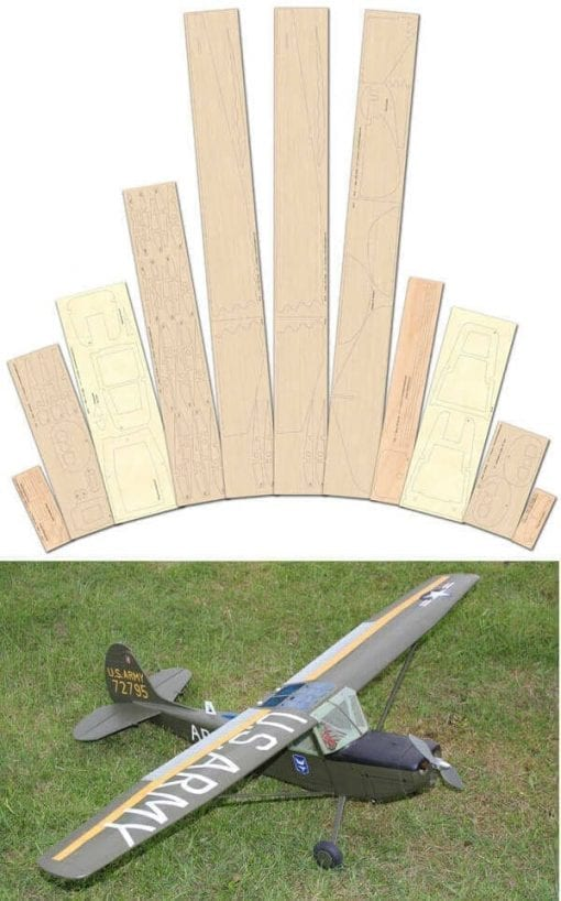 Cessna Bird Dog - Laser Cut Wood Pack