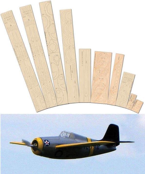 Grumman F4F Wildcat - Laser Cut Wood pack