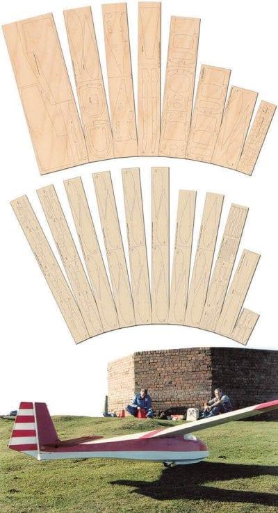 Slingsby T-45 Swallow - Laser Cut Wood Pack