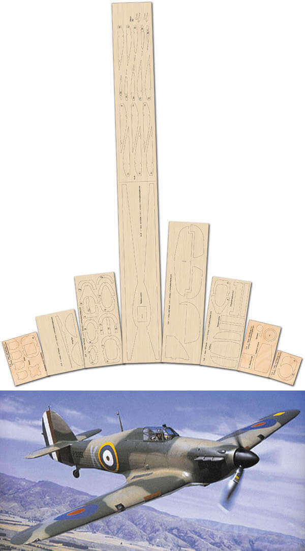 Hawker Hurricane - Laser Cut Wood Pack