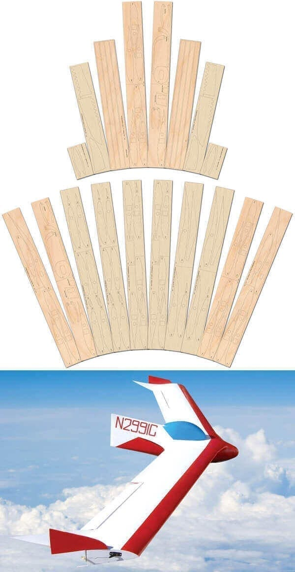 BKB-1 Sailplane - Laser Cut Wood Pack
