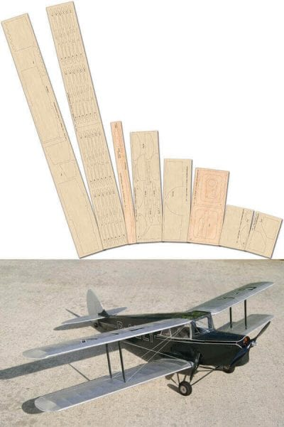DH 87B Hornet Moth - Laser Cut Wood Pack