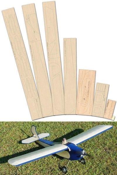 Anzani Longster - Laser Cut Wood Pack
