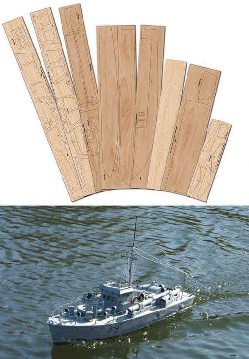 Vosper MTB379 - Laser Cut Wood Pack