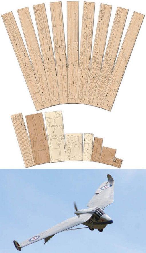 Westland-Hill Pterodactyl Mk.IV - Laser Cut Wood Pack