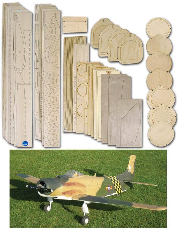 Douglas AD-1 Skyyraider - Laser Cut Wood Pack