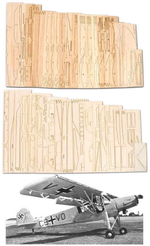 "Fieseler Fi-156 Storch (93"") - Laser Cut Wood Pack"