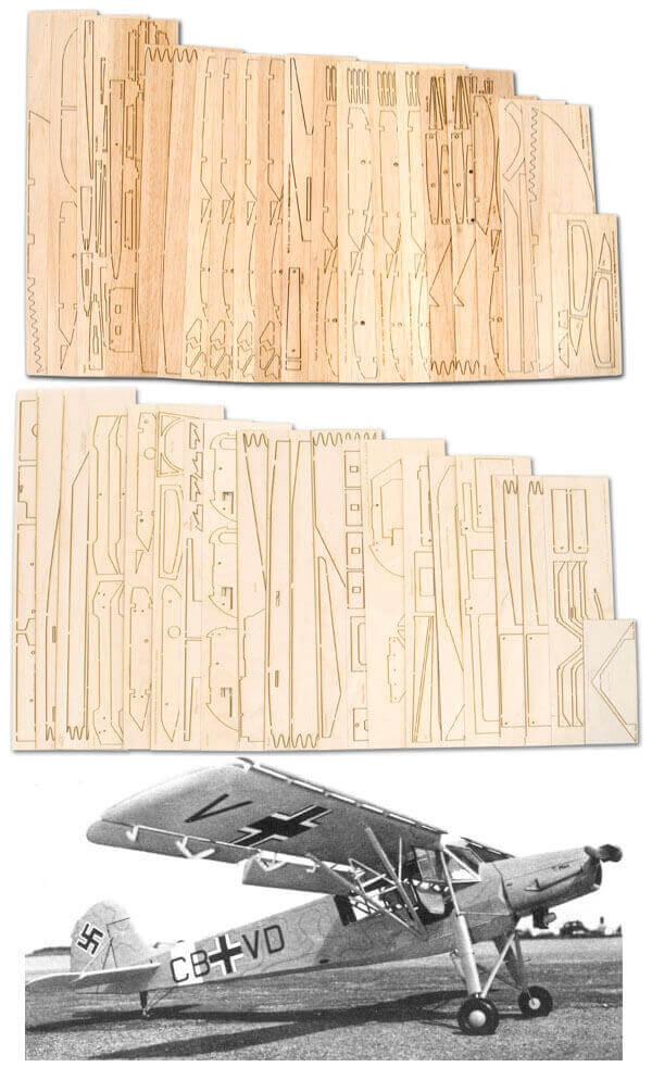 "Fieseler Fi-156 Storch (93"") - Laser Cut Wood Pack"