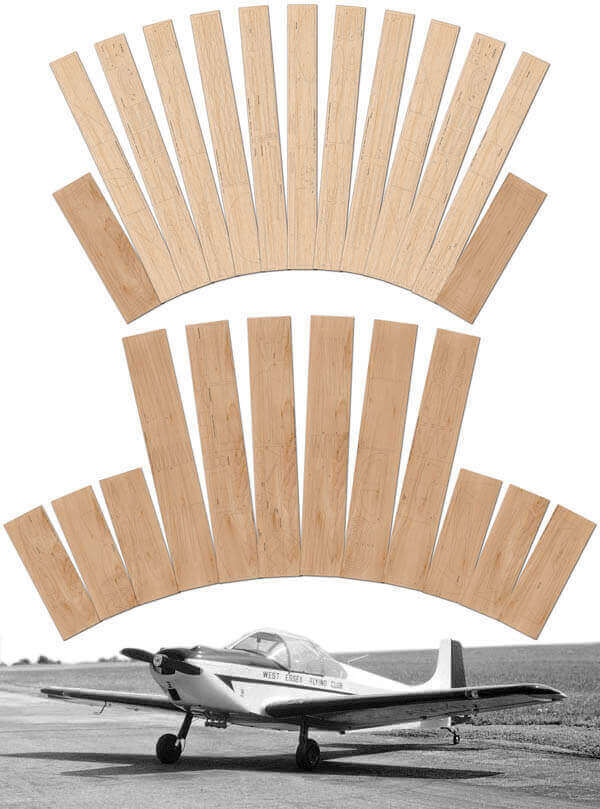 "Rollason Condor (83"") - Laser Cut Wood Pack"