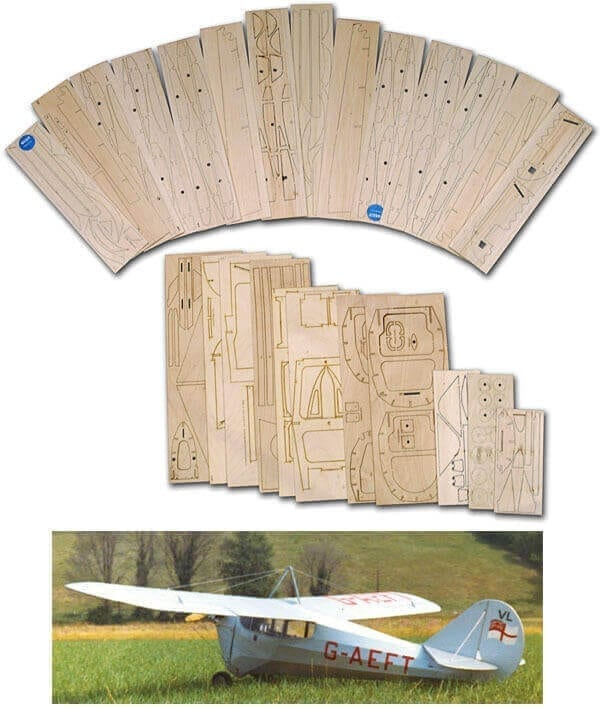 "Aeronca C-3 (81"") - Laser Cut Wood Pack"