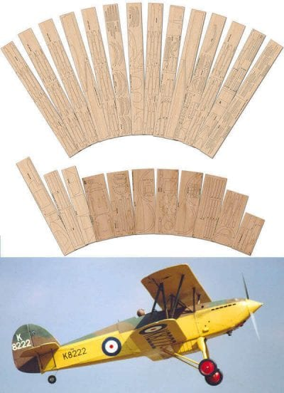 """Hawker Fury 1 (60"""") - Laser Cut Wood Pack"""