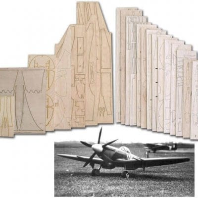 "Supermarine Spitfire Mk.22 (61"") - Laser Cut Wood Pack"