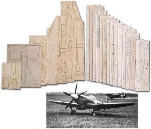"""Supermarine Spitfire Mk.22 (61"""") - Laser Cut Wood Pack"""