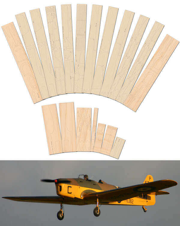 "Miles M.14 Magister (68"") - Laser Cut Wood Pack"