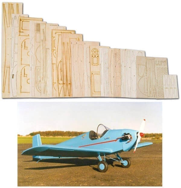"Rollason Turbulent (63"") - Laser Cut Wood Pack"