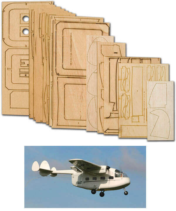 Miles M.57 Aerovan - Laser Cut Wood Pack