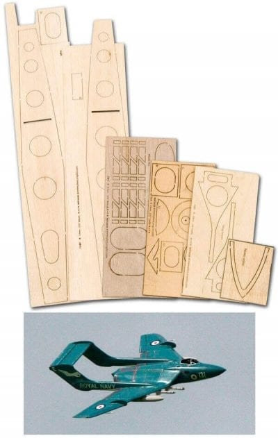 DH110 Sea Vixen - Laser Cut Wood Pack