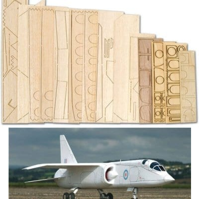 TSR-2 - Laser Cut Foam/Wood Pack