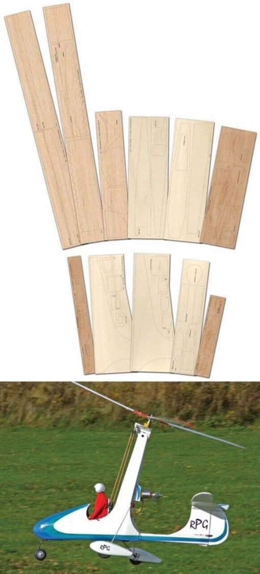 RPG Autogyro V2 - Laser Cut Wood Pack
