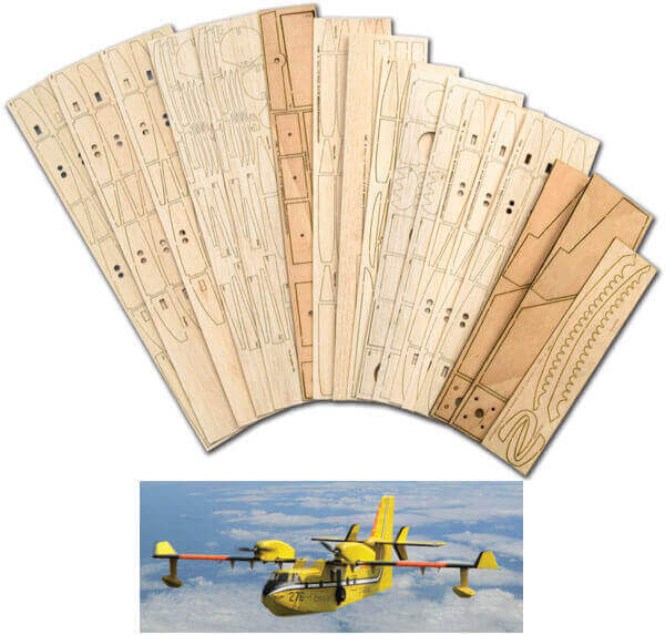 "Bombardier CL 415 (72"") - Laser Cut Wood Pack"