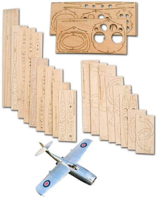 "Saunders-Roe SR A1 (47"") - Laser Cut Wood Pack"
