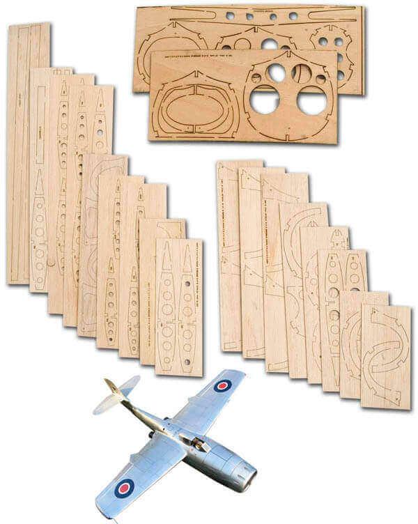 "Saunders-Roe SR A1 (47"") - Laser Cut Wood Pack"